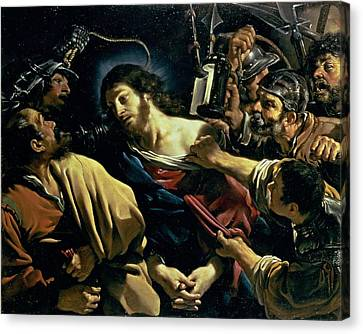 The Betrayal Of Christ, C.1621 Canvas Print by Guercino