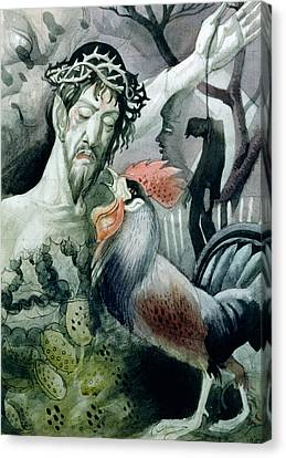 The Betrayal Canvas Print by Osmund Caine