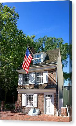 The Betsy Ross House Canvas Print by Olivier Le Queinec