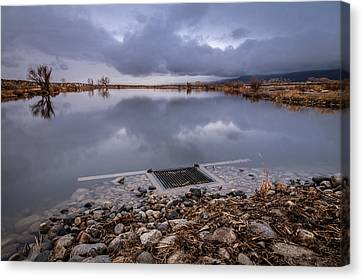 The Big Drain Canvas Print by Cat Connor