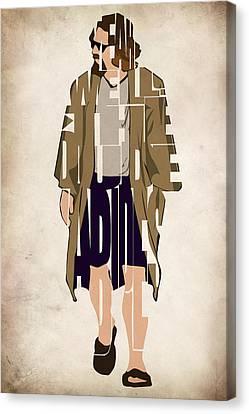 The Big Lebowski Inspired The Dude Typography Artwork Canvas Print by Ayse Deniz