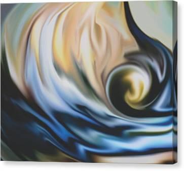 The Big Wave Canvas Print by Jessie J De La Portillo