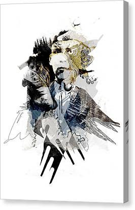 The Birdman Canvas Print by Aniko Hencz