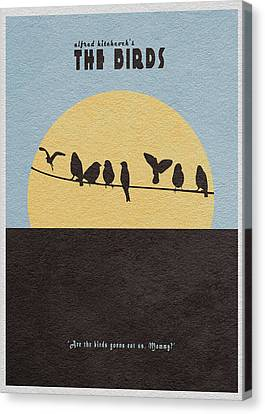 The Birds Canvas Print by Ayse Deniz