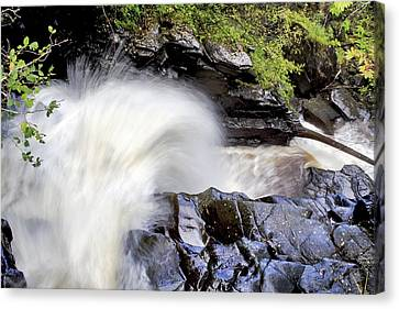 The Birks Waterfall - Aberfeldy Scotland Canvas Print by Jason Politte