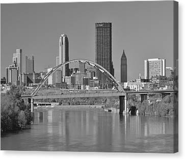 The Birmingham Bridge In Pittsburgh Canvas Print by Digital Photographic Arts