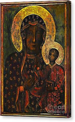 The Black Madonna Canvas Print by Andrzej Szczerski