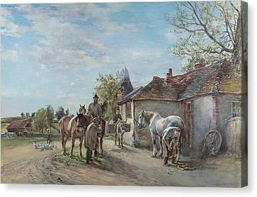 The Blacksmith Canvas Print by Mark Fisher