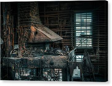 The Blacksmith's Forge - Industrial Canvas Print by Gary Heller