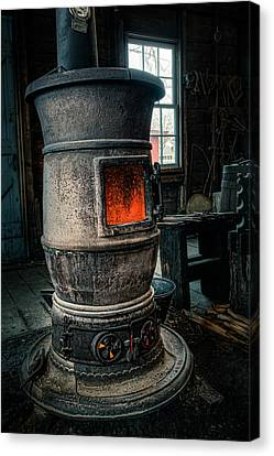 The Blacksmiths Furnace - Industrial Canvas Print by Gary Heller