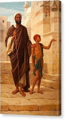 The Blind Beggar, 1872 Canvas Print by Frederick Goodall