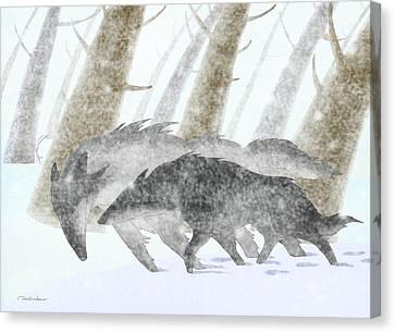 The Blizzard Canvas Print by Dmitry Rezchikov