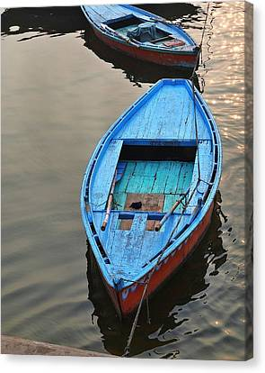 The Blue Boat Canvas Print by Kim Bemis