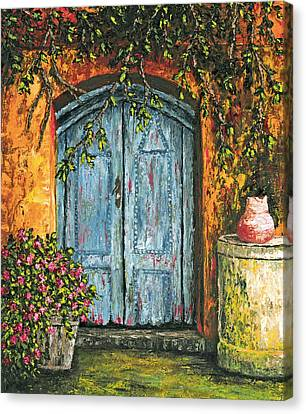 The Blue Door Canvas Print by Darice Machel McGuire