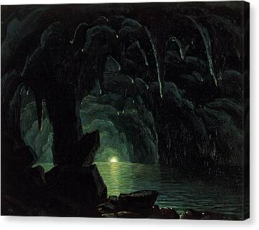 The Blue Grotto Canvas Print by Albert Bierstadt