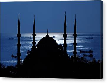 The Blue Mosque Canvas Print by Ayhan Altun