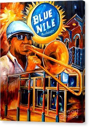The Blue Nile Jazz Club Canvas Print by Diane Millsap