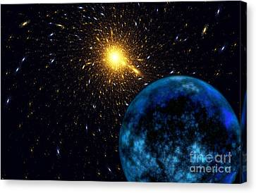 The Blue Planet Canvas Print by Klara Acel