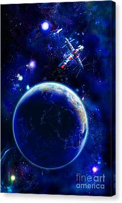 The Blue Planet Seas Of Life Canvas Print by Boon Mee