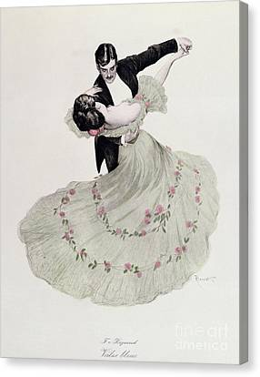 The Blue Waltz Canvas Print by Ferdinand von Reznicek