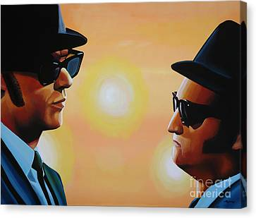 The Blues Brothers Canvas Print by Paul Meijering
