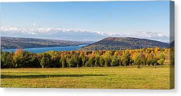 The Bluff On Keuka Lake In Autumn Canvas Print by Panoramic Images