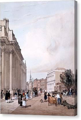The Board Of Trade, Whitehall Canvas Print by Thomas Shotter Boys