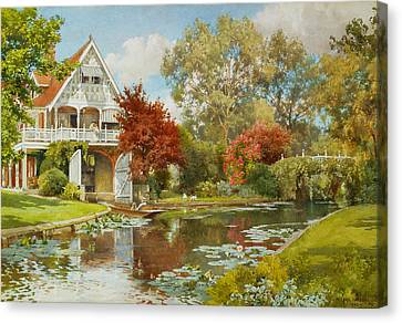 The Boathouse Canvas Print by Alfred Parsons