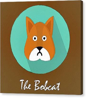 The Bobcat Cute Portrait Canvas Print by Florian Rodarte