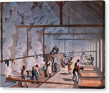 The Boiling House, From Ten Views Canvas Print by William Clark