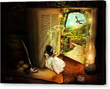 The Book Of Secrets Canvas Print by Donika Nikova - ShaynArt