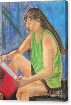 The Book Worm Canvas Print by Cori Solomon