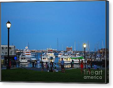 The Boston Wharf In The Early Evening Canvas Print by Dora Sofia Caputo Photographic Art and Design