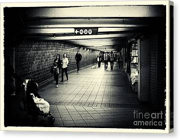 The Bowels Of The Subway New York City Canvas Print by Sabine Jacobs