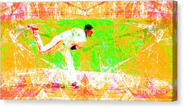 The Boys Of Summer 5d28161 The Pitcher V1 Long Canvas Print by Wingsdomain Art and Photography