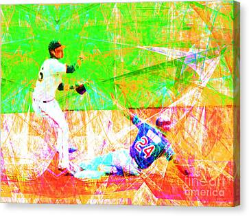 The Boys Of Summer 5d28208 The Double Play Canvas Print by Wingsdomain Art and Photography