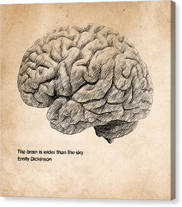 The Brain Is Wider Than The Sky Canvas Print by Taylan Apukovska