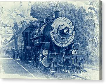 The Brakeman - Vintage Canvas Print by Robert Frederick