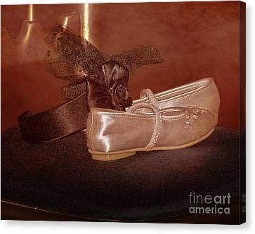 The Bridesmaid's Shoes Canvas Print by Terri Waters