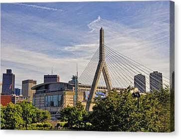 The Bridge And The Arena - Boston Canvas Print by Joann Vitali