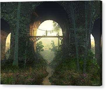 The Bridge Under The Bridge Canvas Print by Cynthia Decker