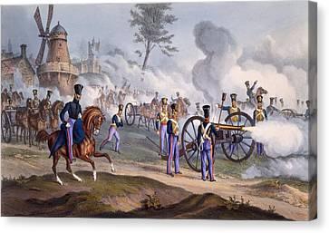 The British Royal Horse Artillery - Canvas Print by English School