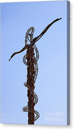 The Bronze Brazen Serpent Sculpture At Mount Nebo Jordan Canvas Print by Robert Preston