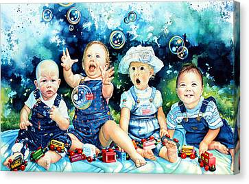 The Bubble Gang Canvas Print by Hanne Lore Koehler