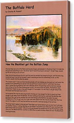 The Buffalo Heard  Canvas Print by Charles Russell