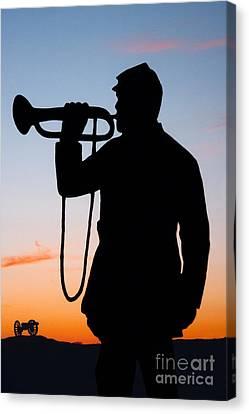 The Bugler Canvas Print by Karen Lee Ensley