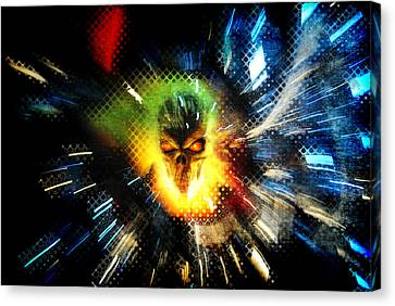 The Burning Canvas Print by Frederico Borges