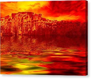 The Burning Zone Canvas Print by Wendy J St Christopher