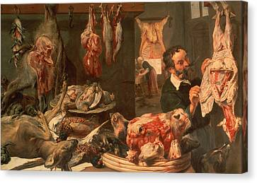 The Butcher's Shop Canvas Print by Frans Snyders