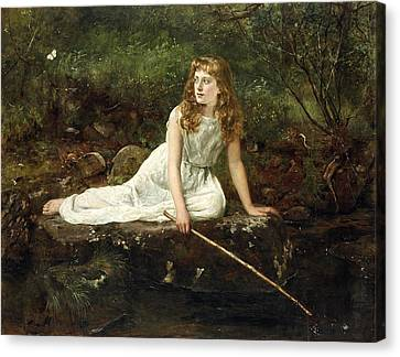 The Butterfly Canvas Print by John Collier